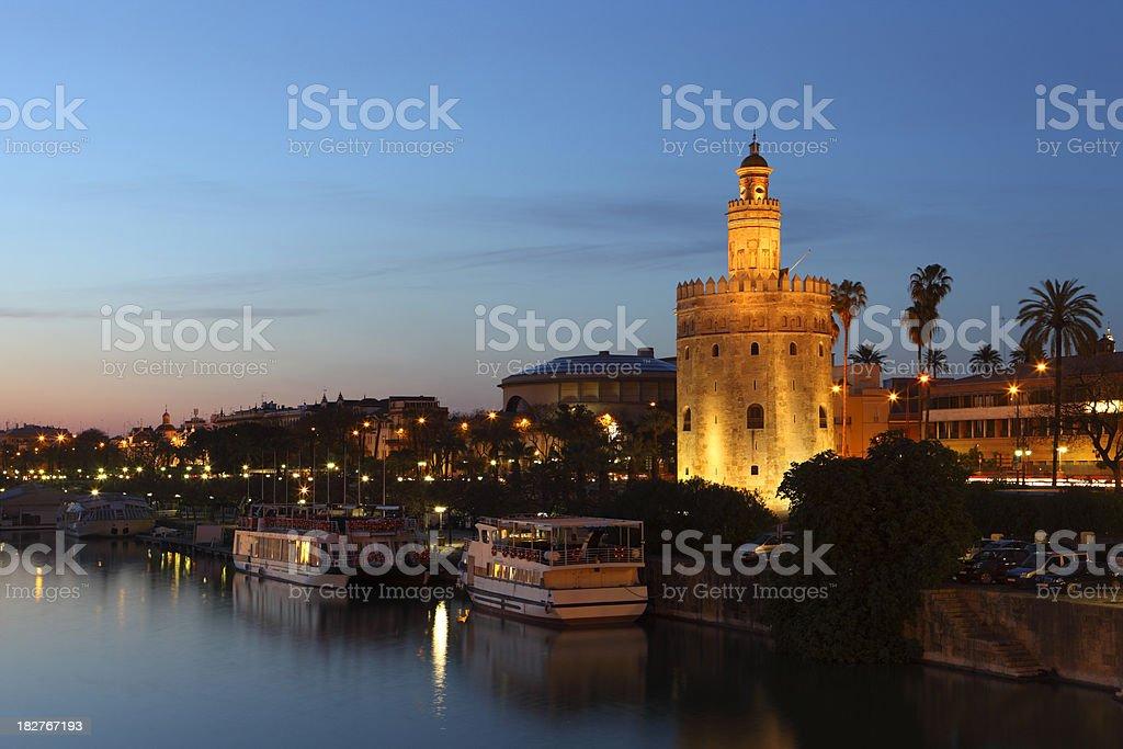 Torre Del Oro stock photo