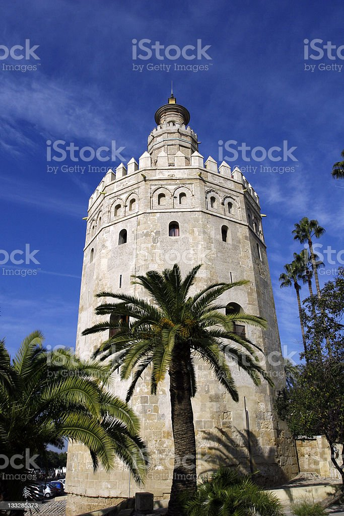 Torre del Oro, Sevilla, Spain royalty-free stock photo