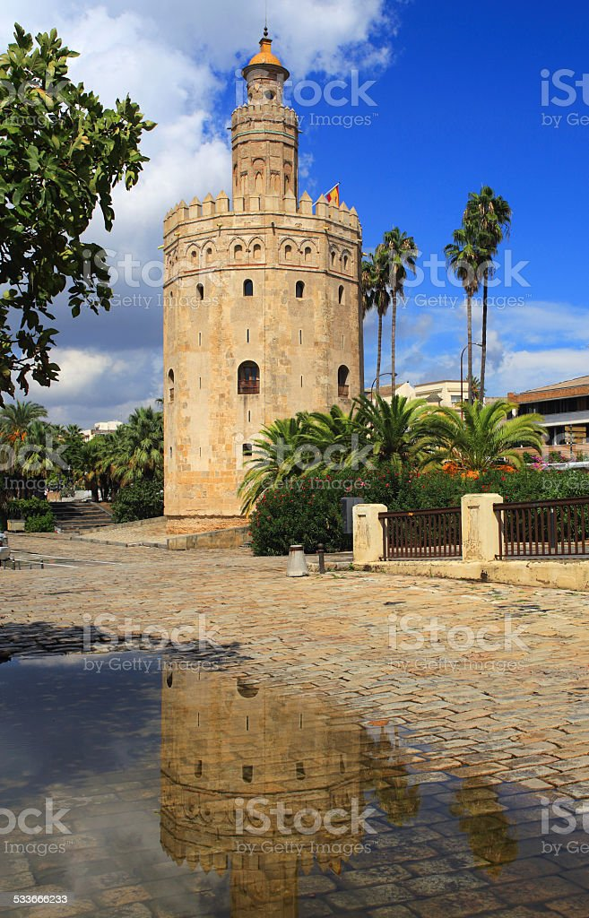 Torre del Oro, Seville, Andalusia, Spain. stock photo