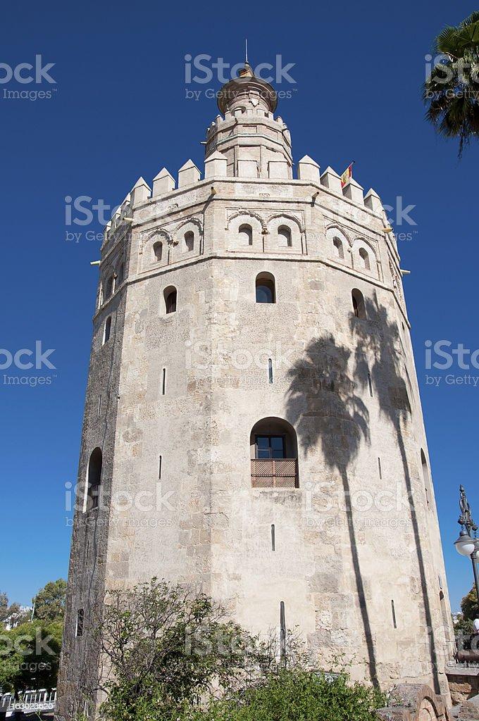 Torre del Oro, Seville in Spain. stock photo