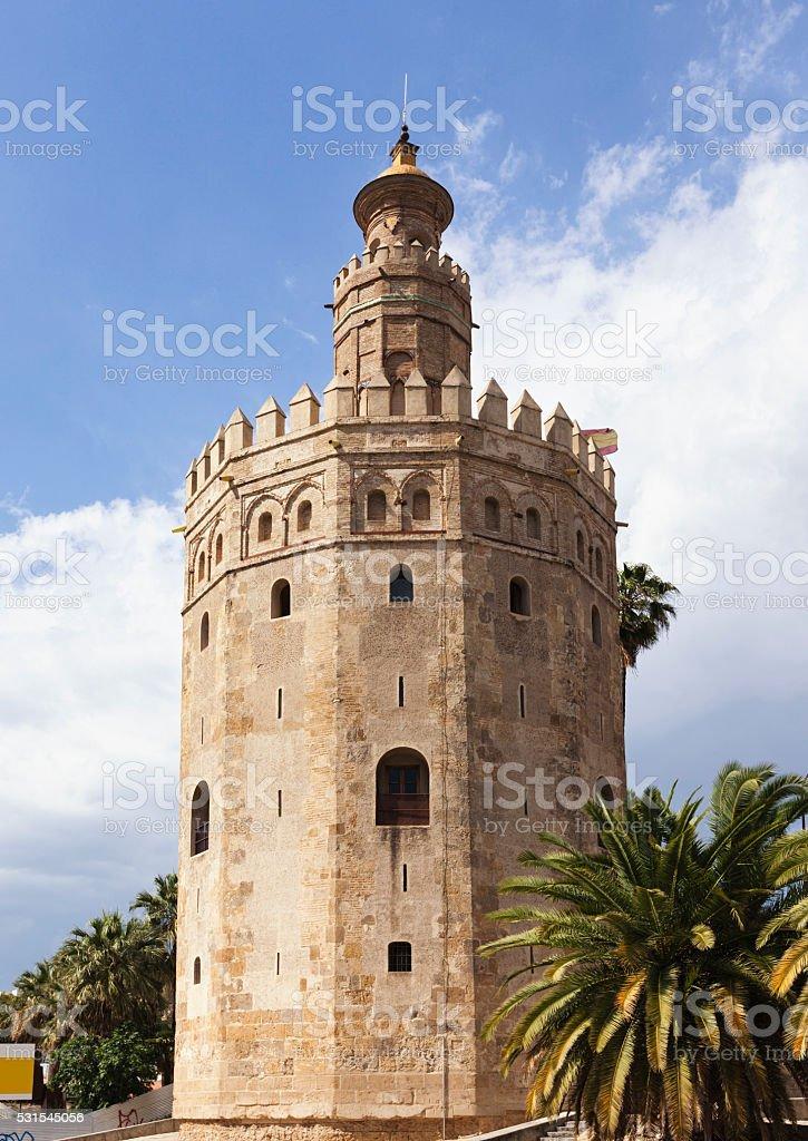 Torre del Oro, Seville stock photo