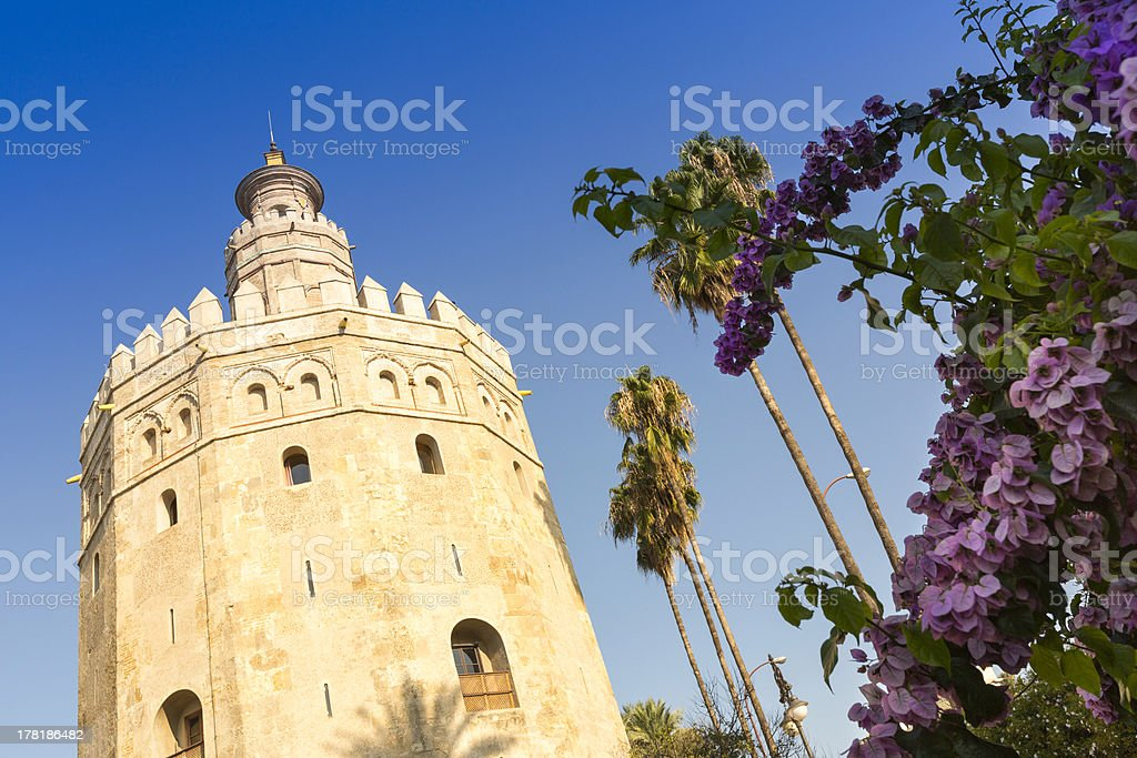 Torre del Oro, Seville, Spain royalty-free stock photo