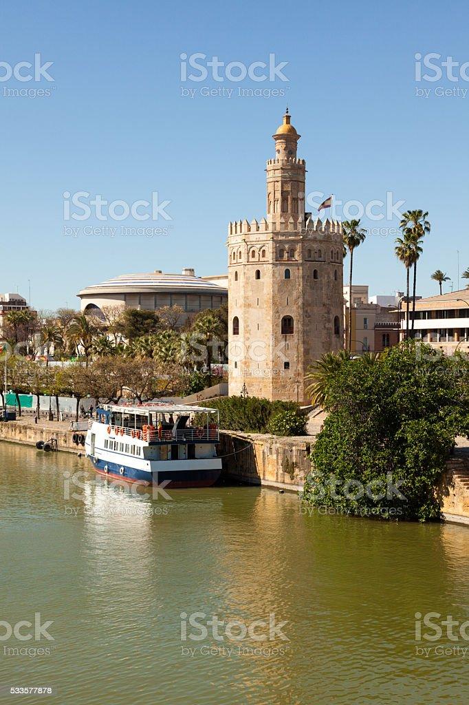 Torre del Oro, Seville, Spain stock photo