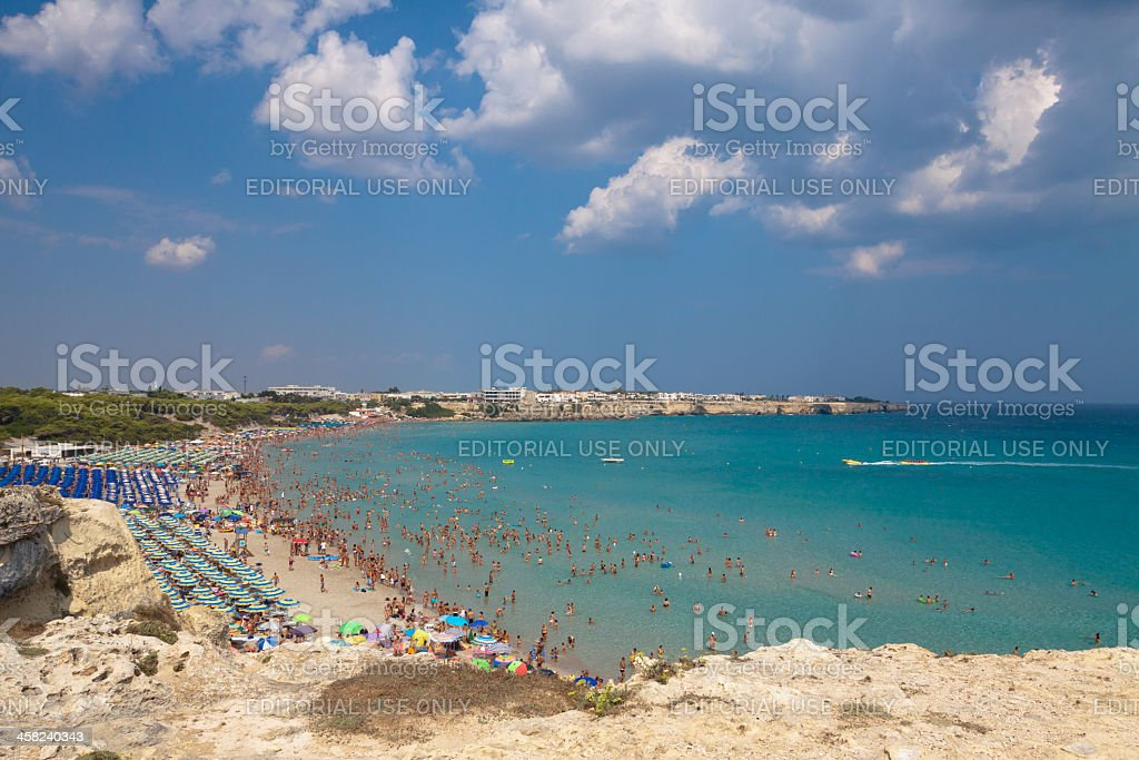 Torre dell'Orso, Otranto - Mediterranean Sea, Puglia, Italy stock photo