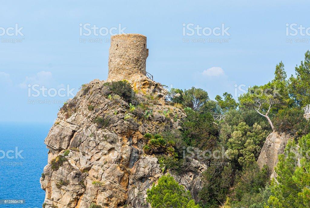 Torre des Verger Viewpoint, Majorca stock photo