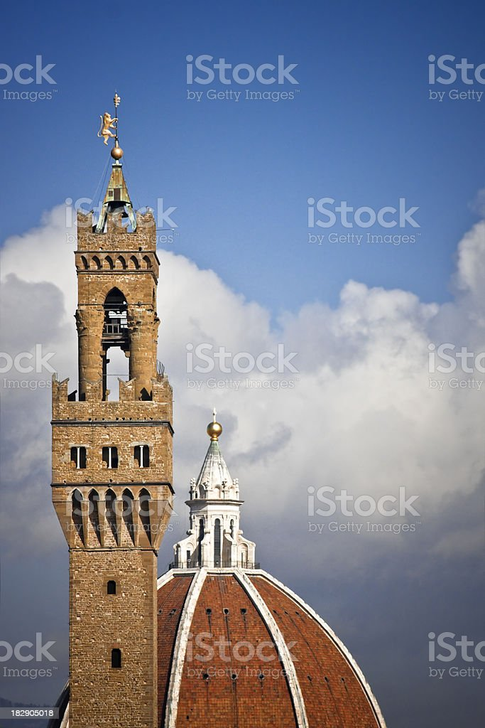 Torre di Arnolfo and Cupola del Duomo, Florence Original View stock photo