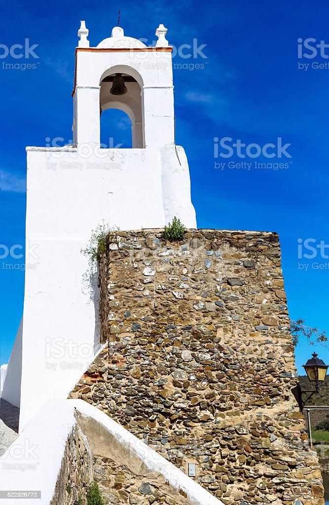 Torre do Relógio in Mertola, Portugal. stock photo