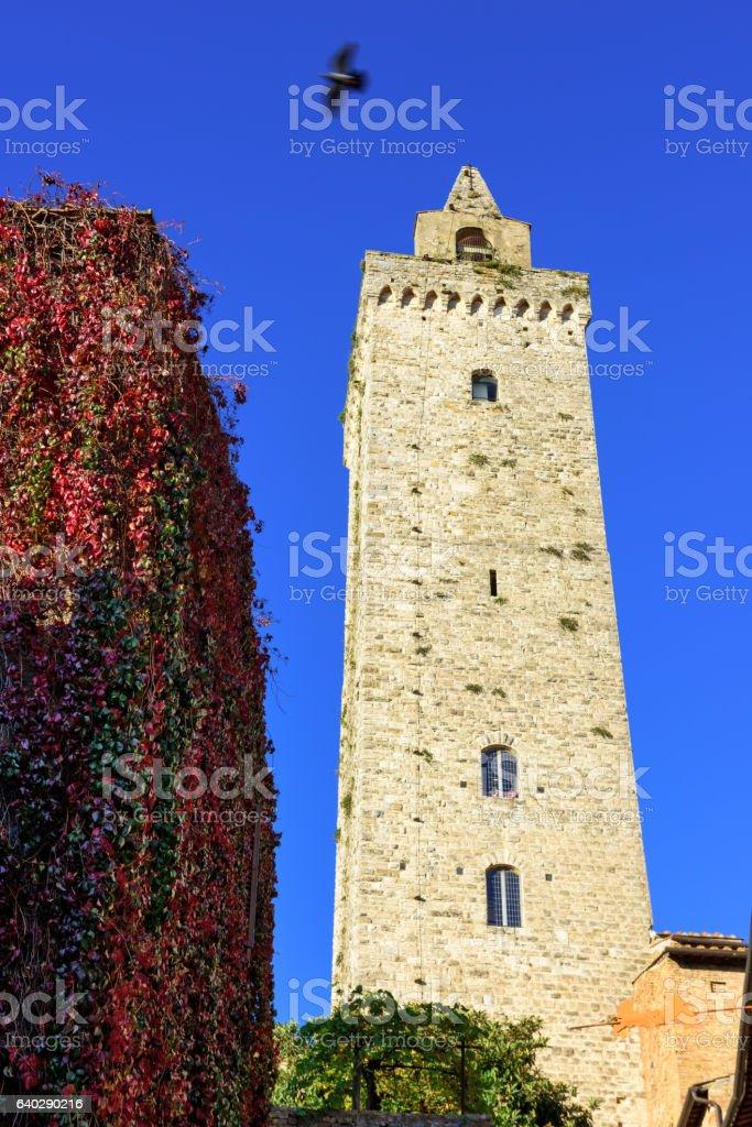Torre Grossa, San Gigmignano, Tuscany,  Italy stock photo