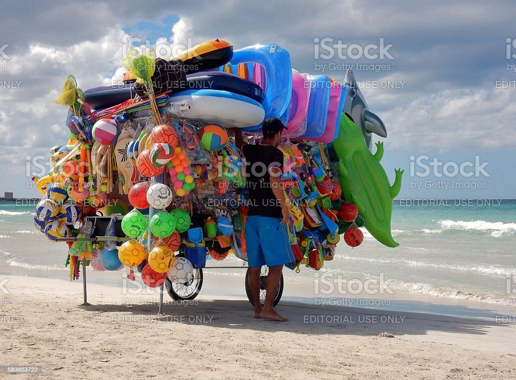 Torre Lapillo - Ambulante da spiaggia in sosta stock photo