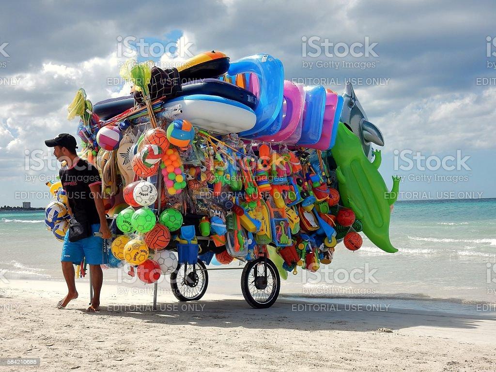 Torre Lapillo - Ambulante da spiaggia stock photo