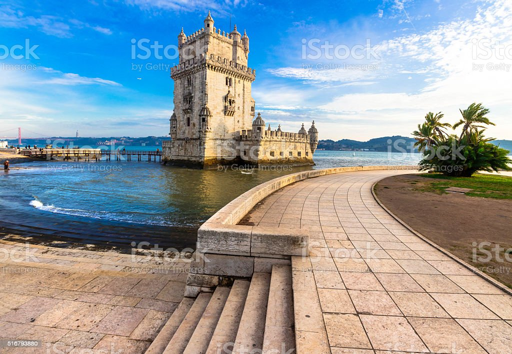 Torre of Belem, landmark of Lisbon, Portugal stock photo