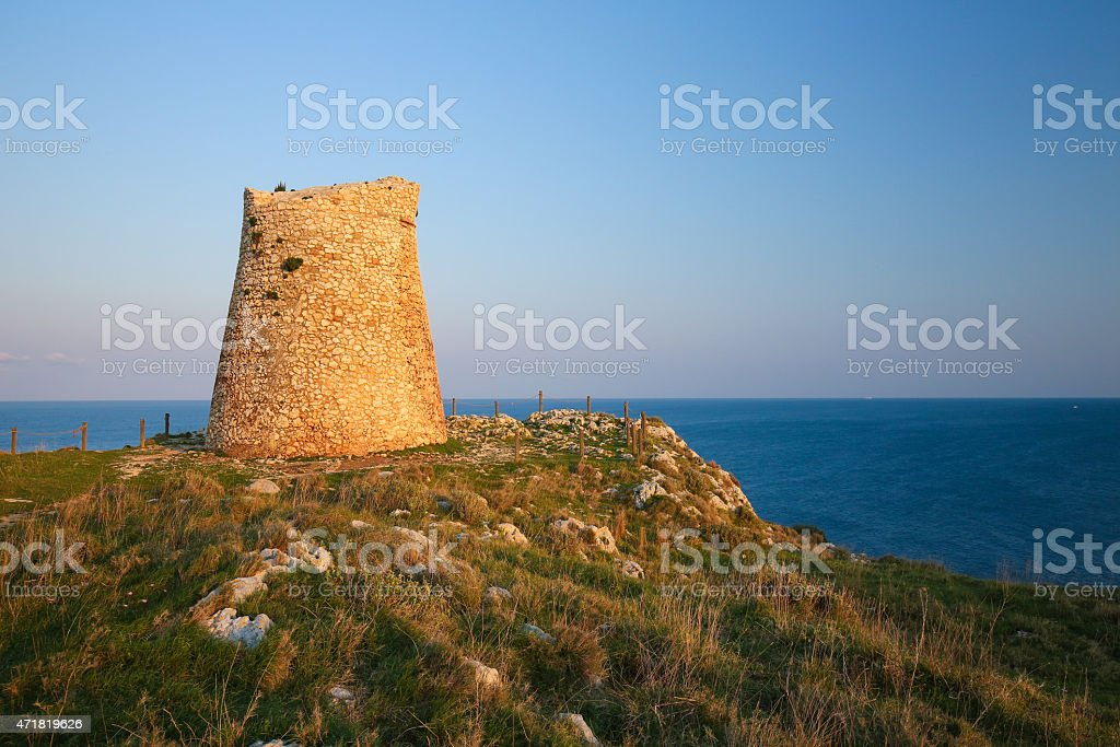 Torre Sant Emiliano near Otranto, province of Lecce, Apulia stock photo