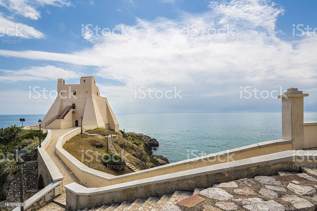 Torre Troglia in Sperlonga, Lazio Italy royalty-free stock photo