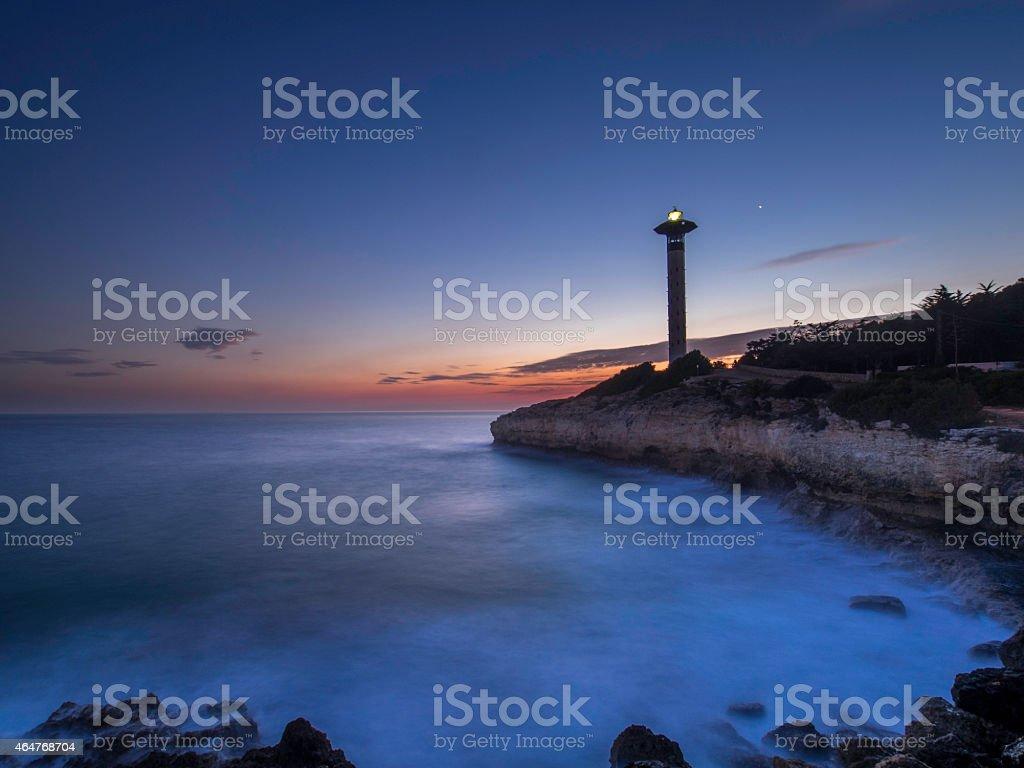 Torredembarra's Lighthouse stock photo