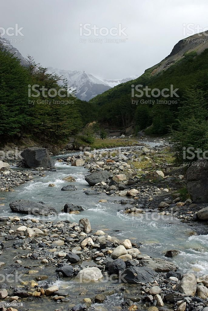 Torrent in Chile royalty-free stock photo