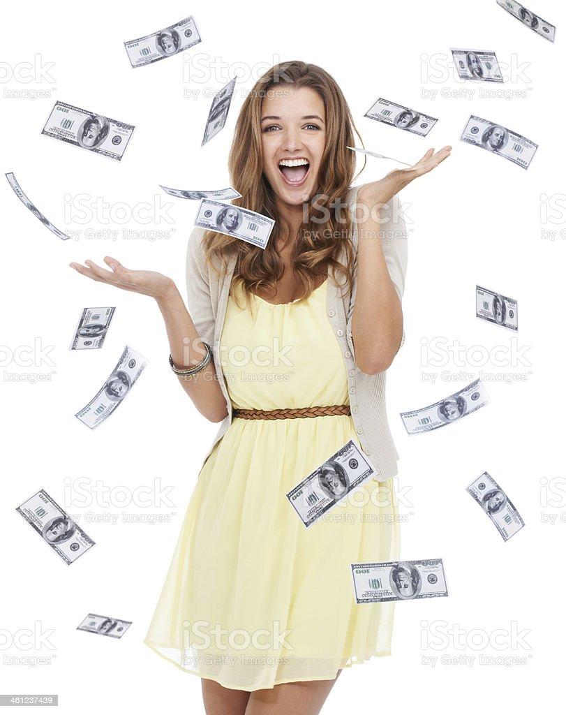 Torrents of money stock photo