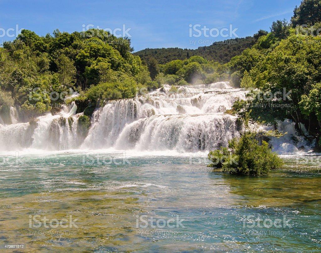 torrents of water stock photo