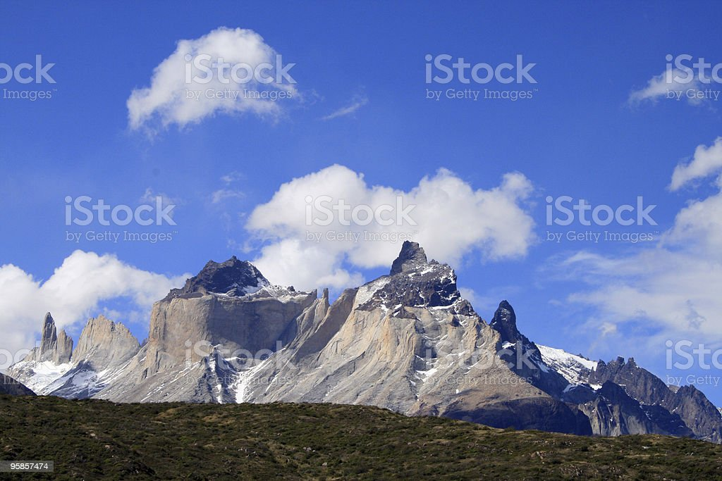 Torres del Paine in Chilean Patagonia - landscape stock photo