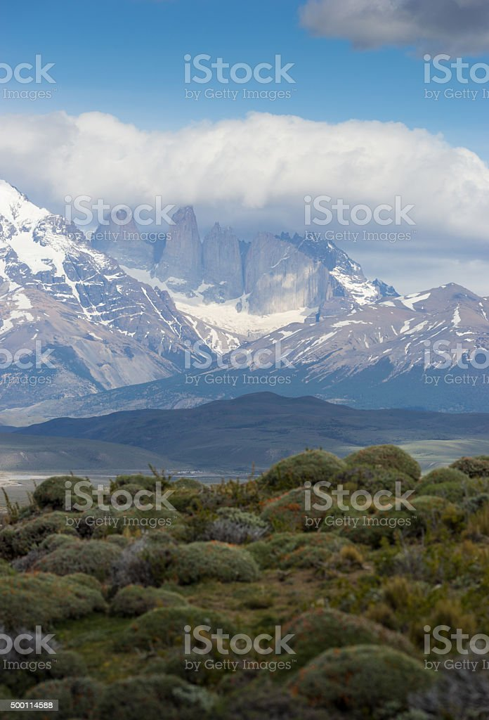Torres del Paine in Patagonia, Chile stock photo