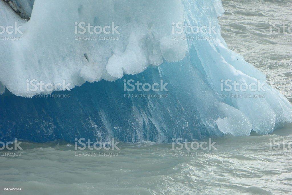 Torres del Paine, Lago Grey, Blue ice stock photo