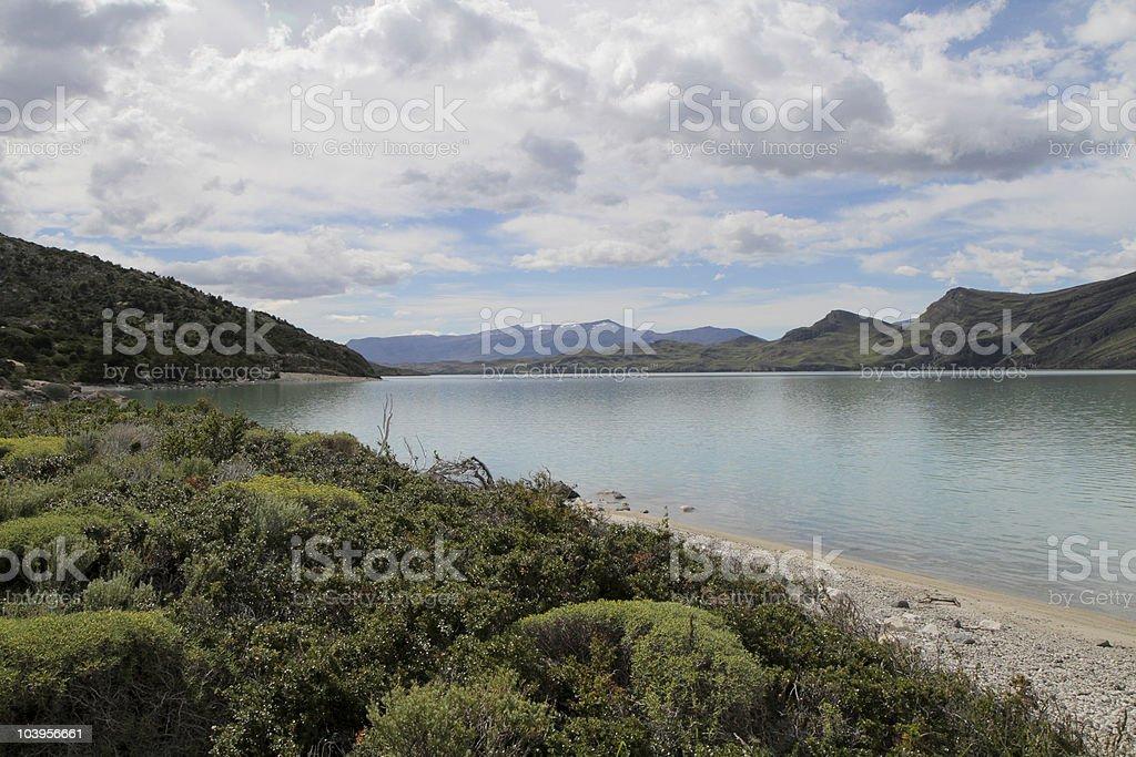 Torres del Paine Landscape stock photo
