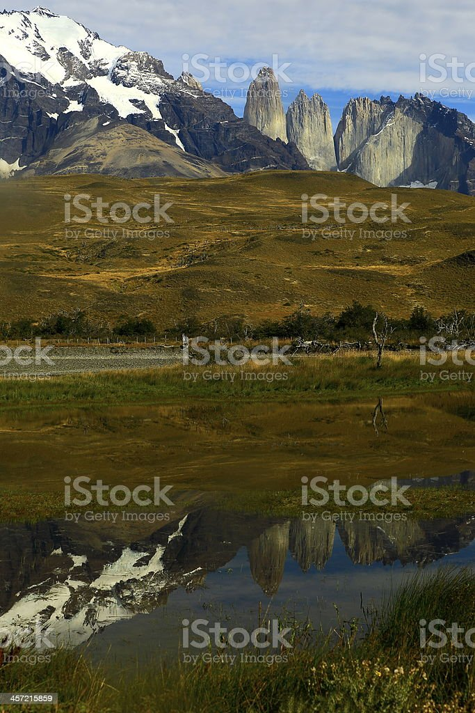 Torres del Paine mountain range, Patagonia, South America stock photo