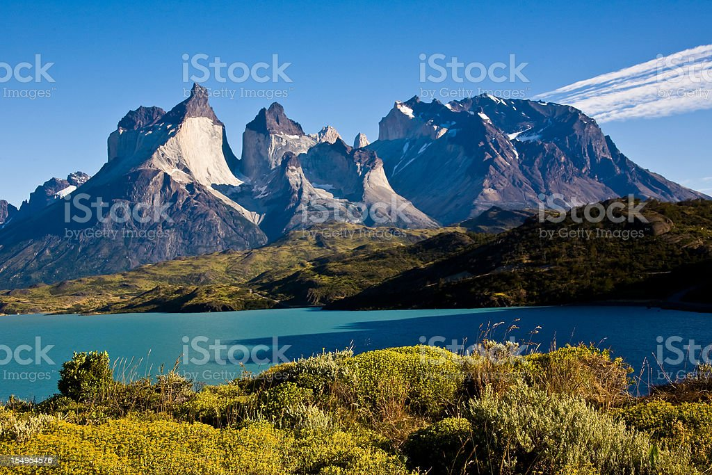Torres del Paine National Park Chile stock photo