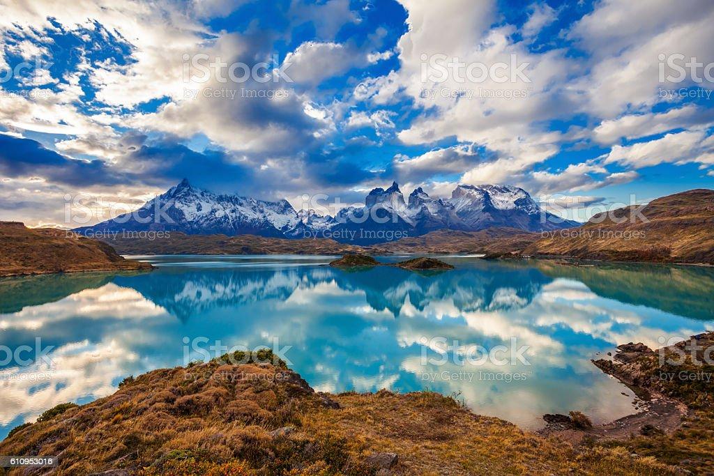 Torres del Paine Park stock photo