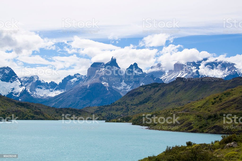 torres del paine park royalty-free stock photo