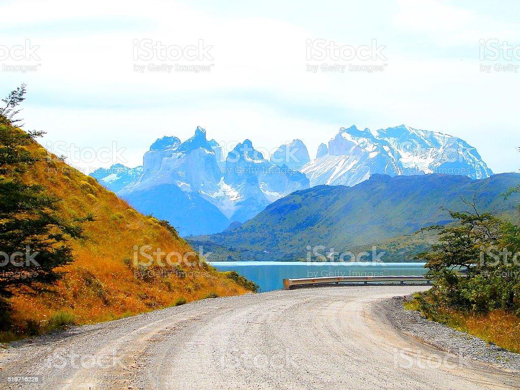 Torres Del Paine, Patagonia Chile. stock photo