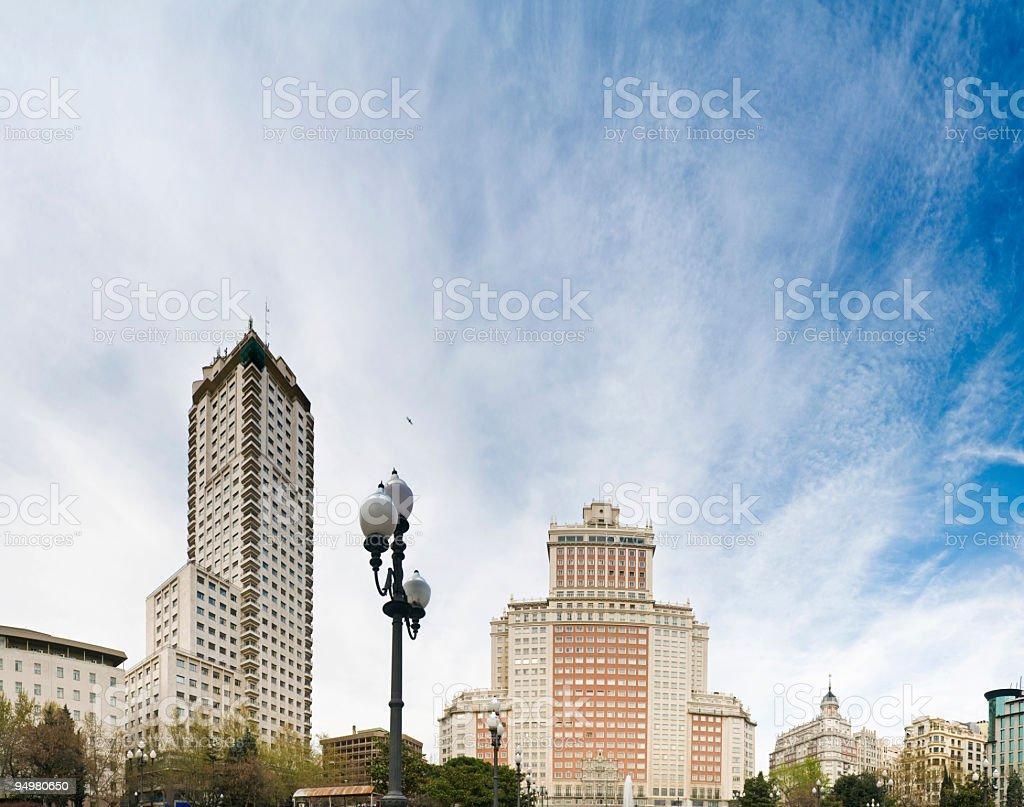Torres Plaza de España Madrid royalty-free stock photo