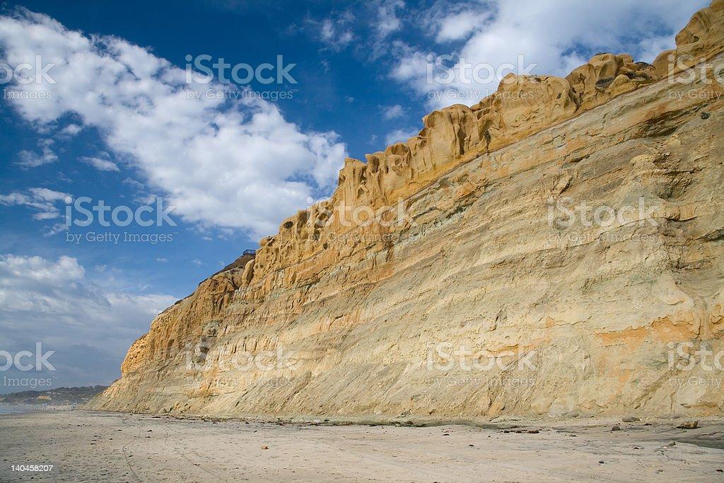 Torrey Pines Cliff stock photo