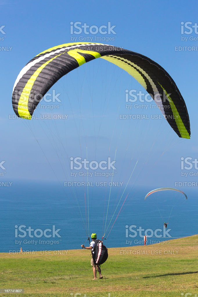 Torrey Pines Gliderport, San Diego, California stock photo