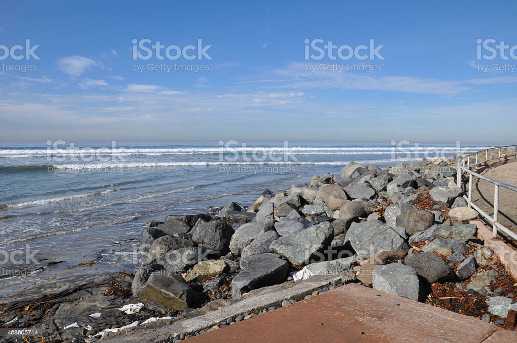 Torrey Pines State Beach in California stock photo