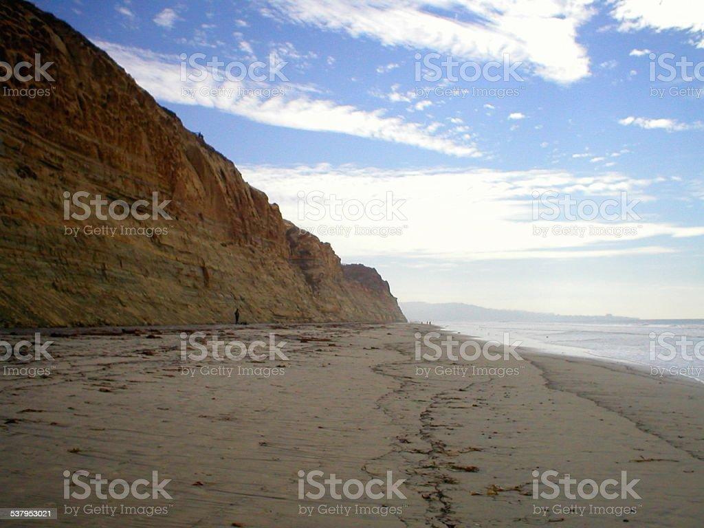 Torrey Pines State Beach, San Diego California stock photo