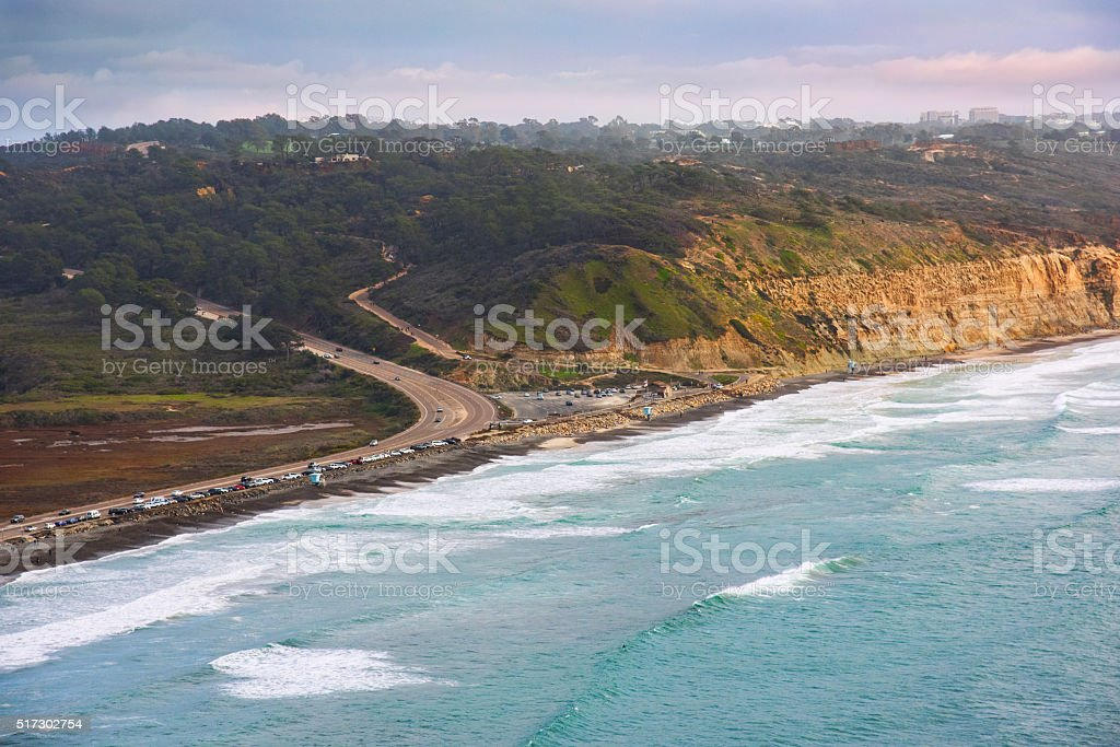 Torrey Pines State Park and Beach - San Diego stock photo