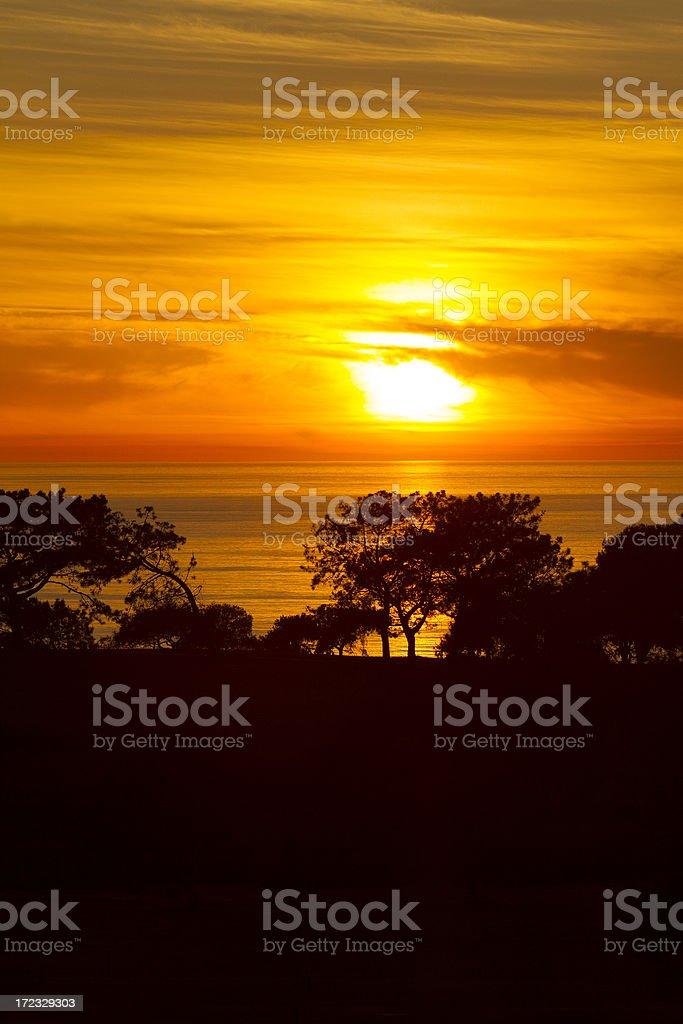 Torrey Pines sunset royalty-free stock photo