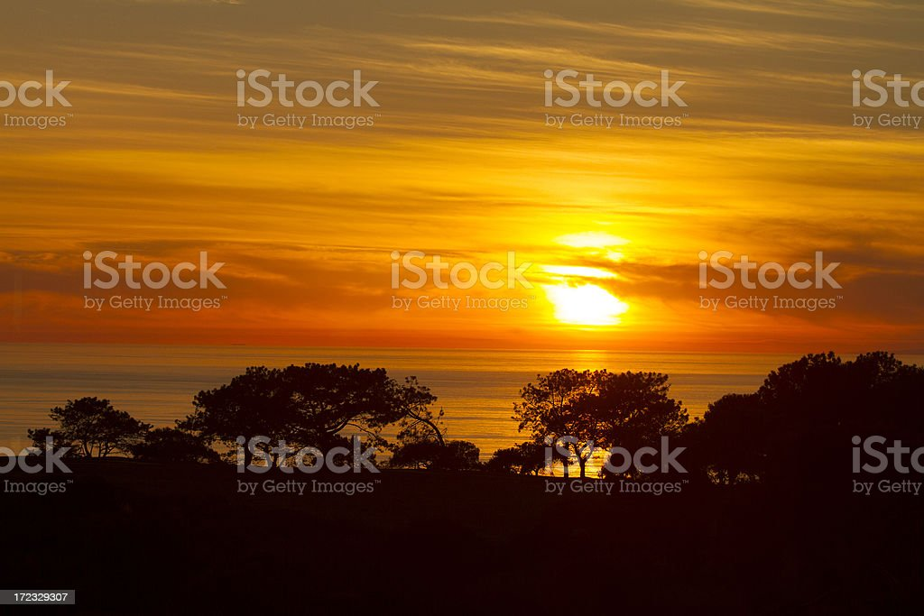 Torrey Pines sunset royalty-free stock photo