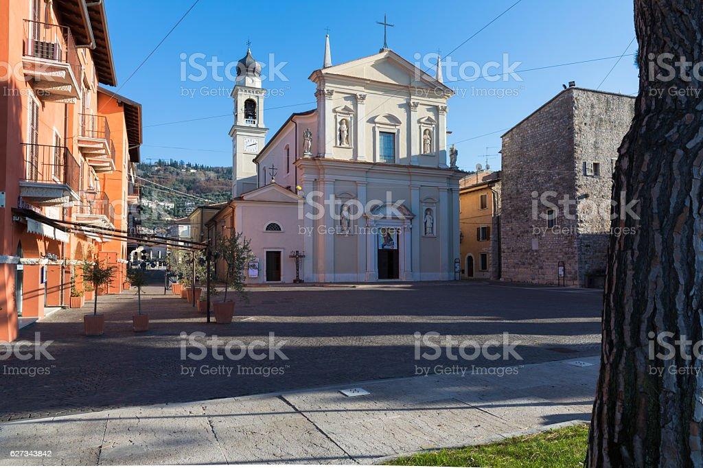 Torri del Benaco Church Italy stock photo