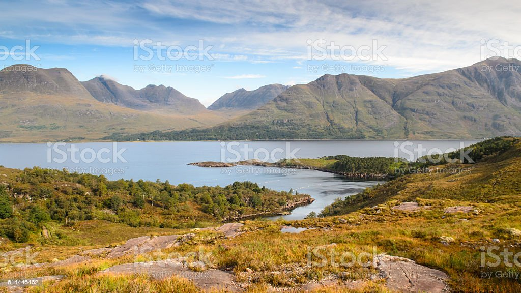 Torridon Hills and Loch Torridon stock photo