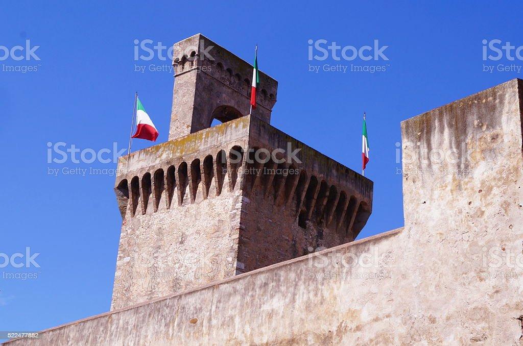 Torrione Rivellino, Piombino, Tuscany, Italy stock photo