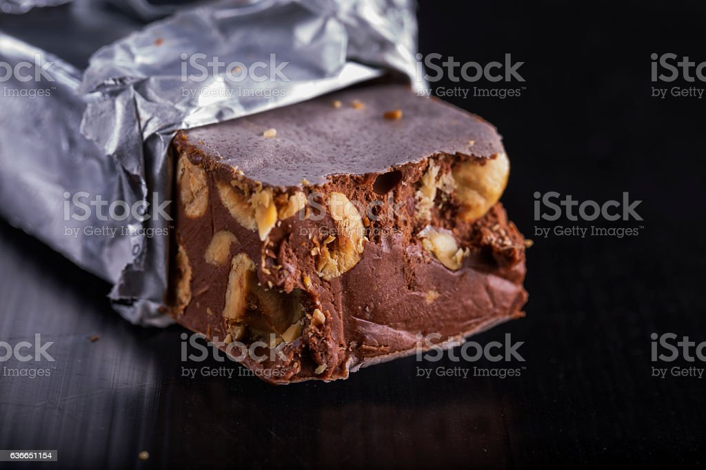 Torrone in close up stock photo