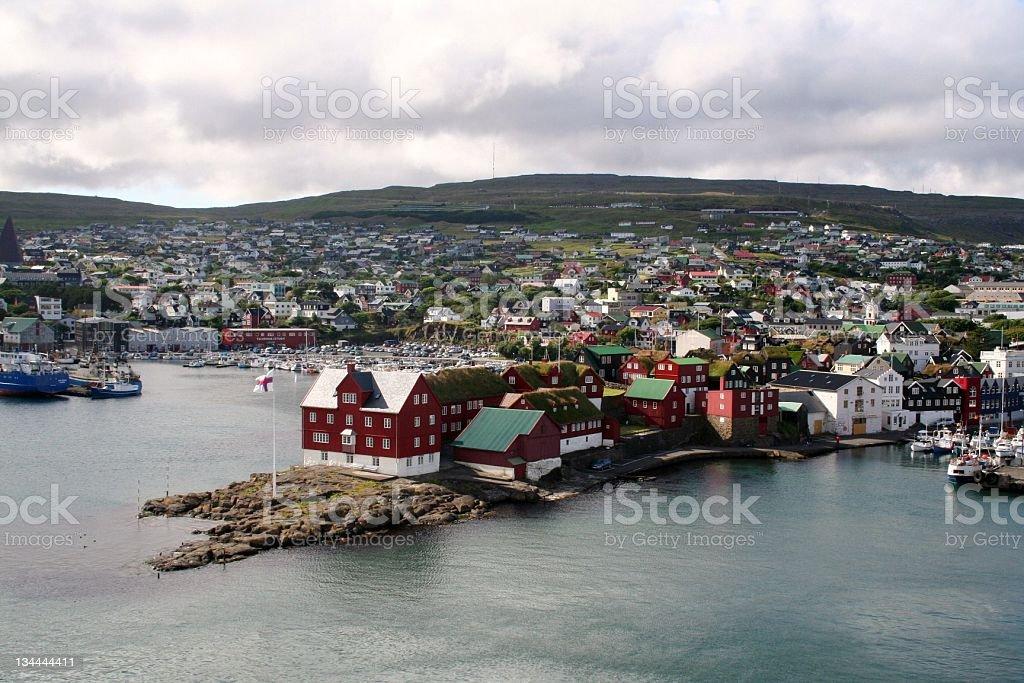 Torshavn, Puerto, Islas Feroes stock photo