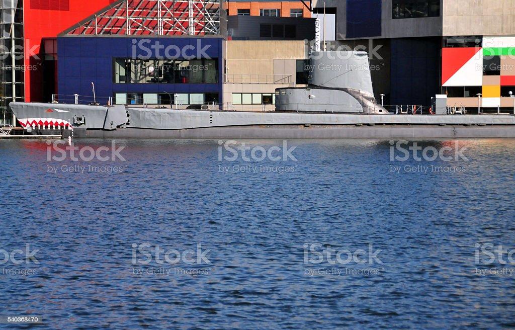 USS Torsk - WWII US Navy submarine stock photo