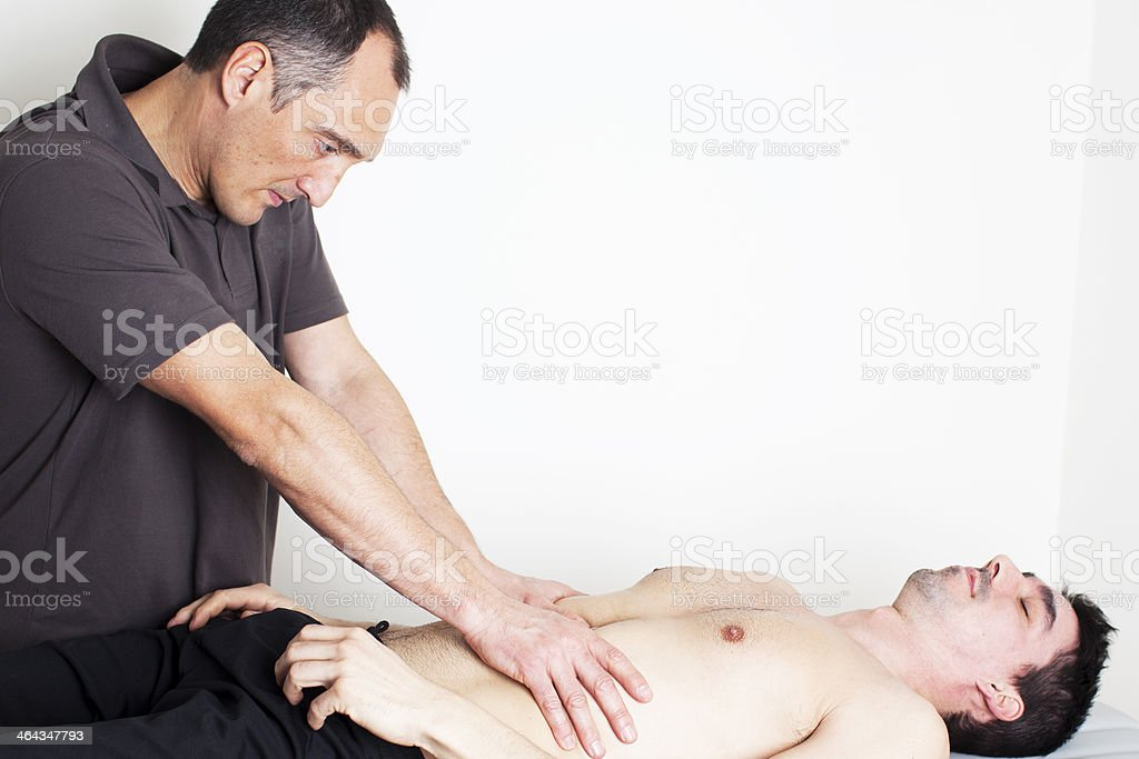 Torso massage royalty-free stock photo