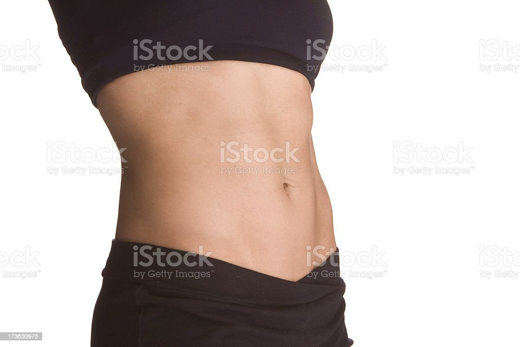 Torso of very fit woman royalty-free stock photo