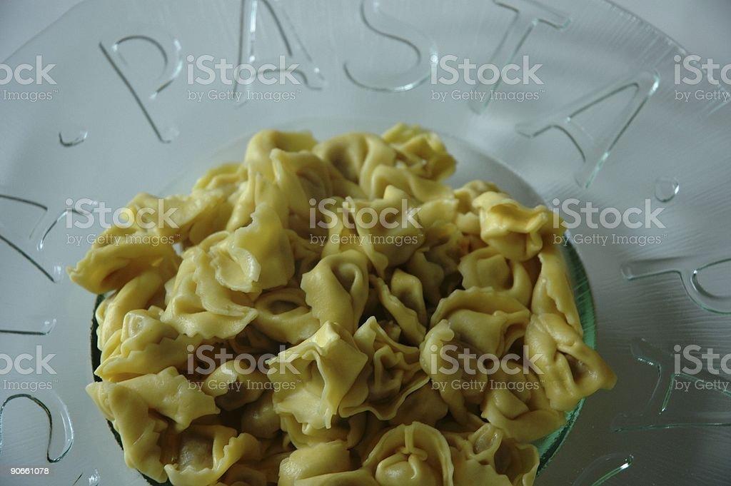 Tortellini pasta stock photo