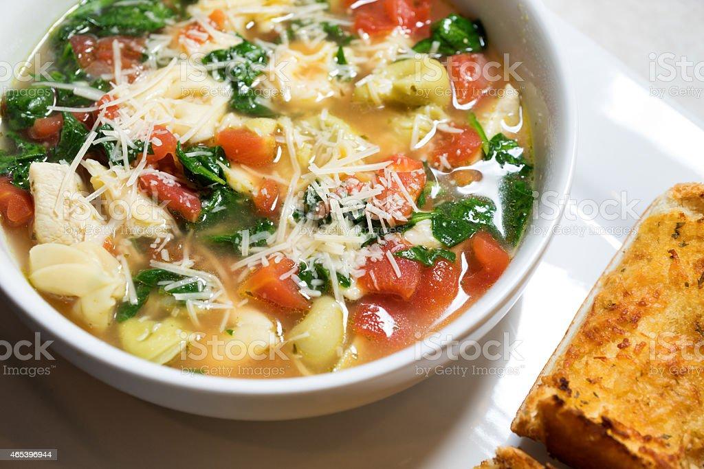 Tortellini Soup stock photo