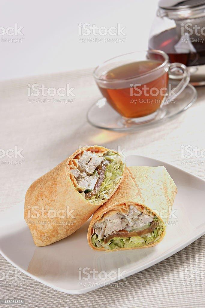Tortilla Chicken Wrap royalty-free stock photo