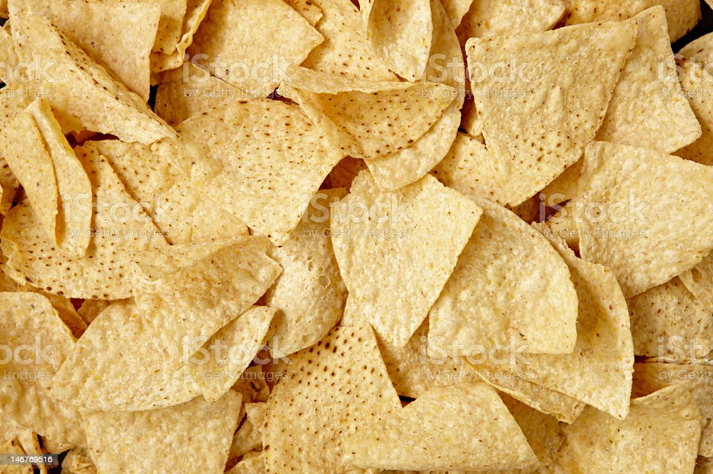 Tortilla chips ready for consumption stock photo